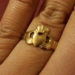 Yellow Gold Irish Claddagh Ring-6 1/2